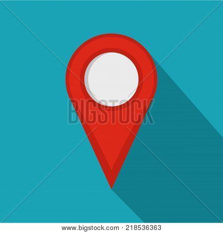 Location mark icon. Flat illustration of location mark vector icon for web