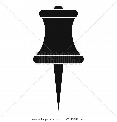 Sharp pin icon. Simple illustration of sharp pin vector icon for web