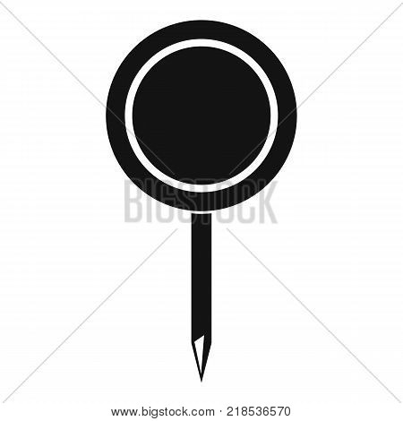Round pin icon. Simple illustration of round pin vector icon for web