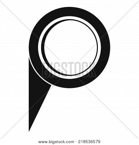 Navigation pin icon. Simple illustration of navigation pin vector icon for web
