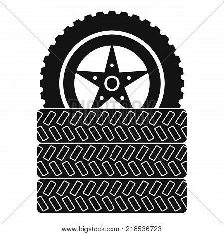 Tire leap icon. Simple illustration of tire leap vector icon for web