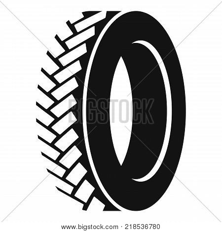 One tyre icon. Simple illustration of one tyre vector icon for web