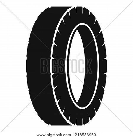 Turning tire icon. Simple illustration of turning tire vector icon for web