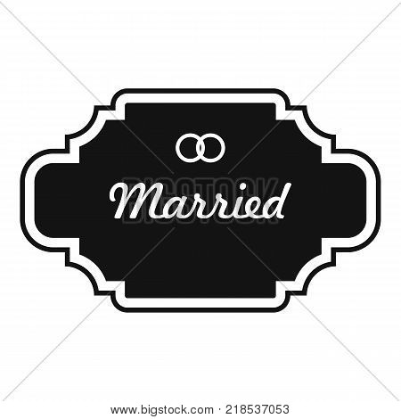 Married label icon. Simple illustration of married label vector icon for web