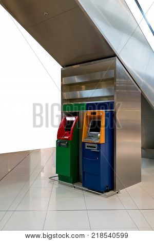 Atm Machines. The Station Automatic Machines.