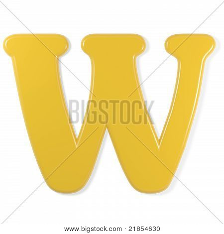 yellow font - letter w