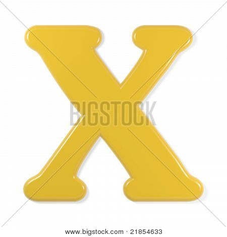 yellow font - letter x