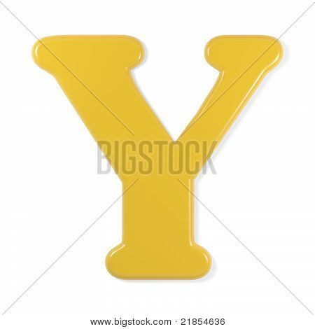 yellow font - letter y