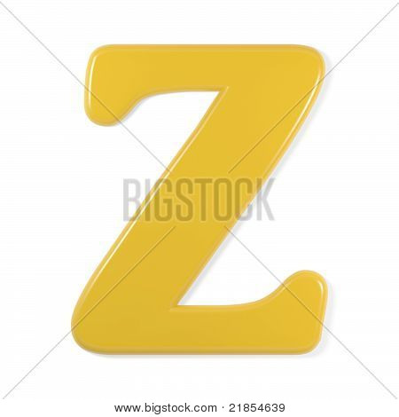 yellow font - letter z