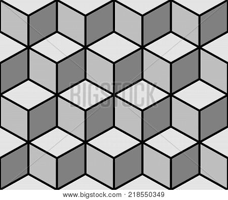 Vector illustration the cubes of seamless background.