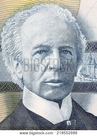 Wilfrid Laurier portrait from Canadian money - Dollars