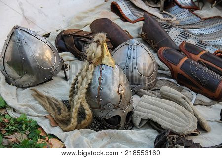Spilamberto Italy- October 02 2016: Ancient style ammunition at historic party in park