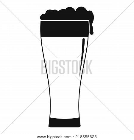 Glass of beverage icon. Simple illustration of glass of beverage vector icon for web