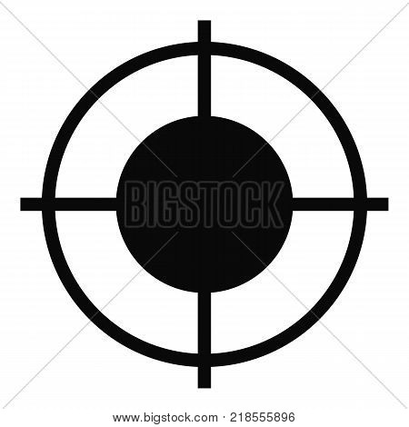 Far target icon. Simple illustration of far target vector icon for web