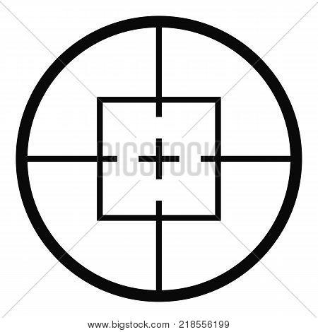 Aiming device icon. Simple illustration of aiming device vector icon for web