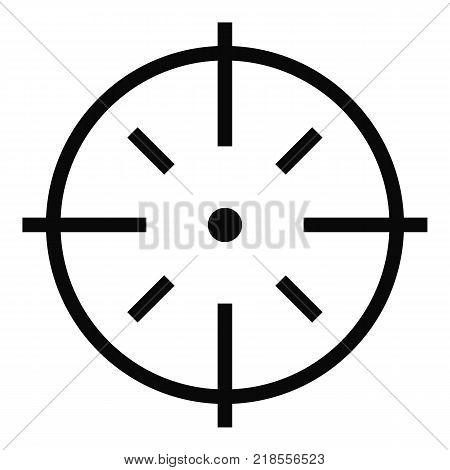 Specific target icon. Simple illustration of specific target vector icon for web