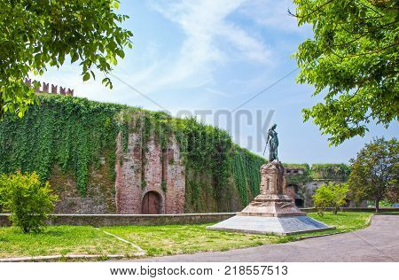 Italy Piedmont Casale Monferrato the monument to the Defenders in front of the Castle