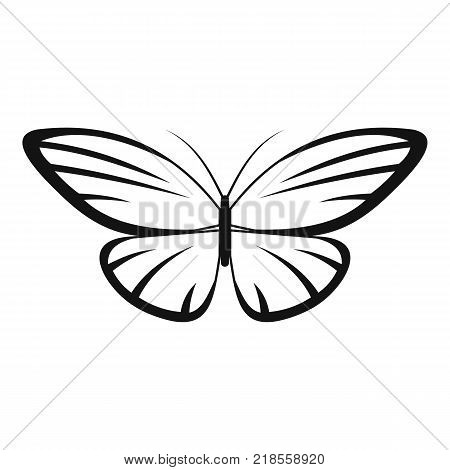 Decorative moth icon. Simple illustration of decorative moth vector icon for web