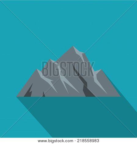 Extreme mountain icon. Flat illustration of extreme mountain vector icon for web