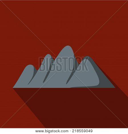 Europe mountain icon. Flat illustration of europe mountain vector icon for web