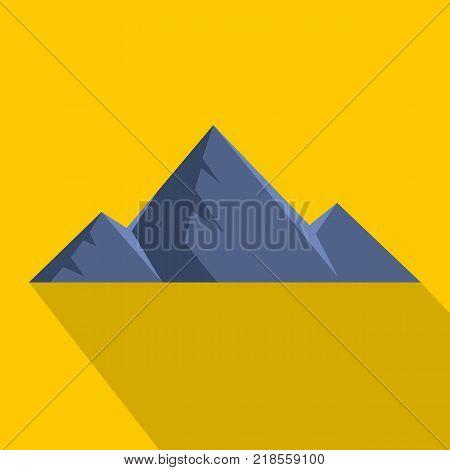 Mountain peak icon. Flat illustration of mountain peak vector icon for web