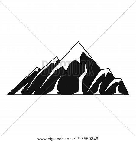 Alpine mountain icon. Simple illustration of alpine mountain vector icon for web