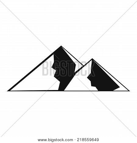 Mountain for extremal icon. Simple illustration of mountain for extremal vector icon for web