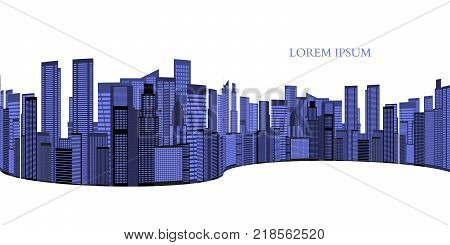Abstract Skyline City Scape background. Vector illustration