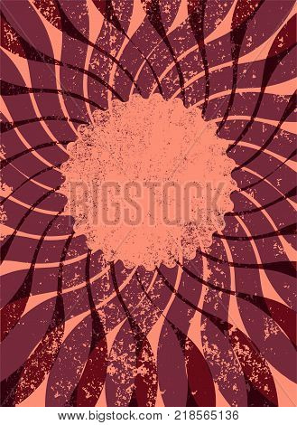 Abstract centrifugal grunge background for your text. Retro vector illustration. Eps 10.