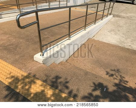 outdoor Ramp way for disable people of the building