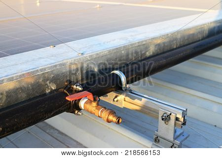 Water Hose Bib for Solar Panel Cleaning