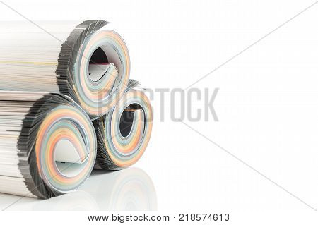 Colorful Magazines Close Up Photo