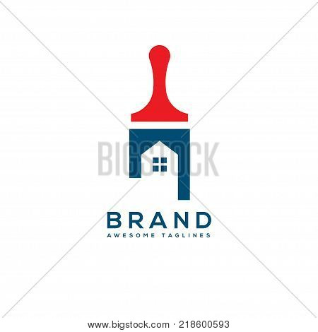 Home Painting Service. Creative Painting Concept for your business, home decor and renovations logo concept, paint and color service logo