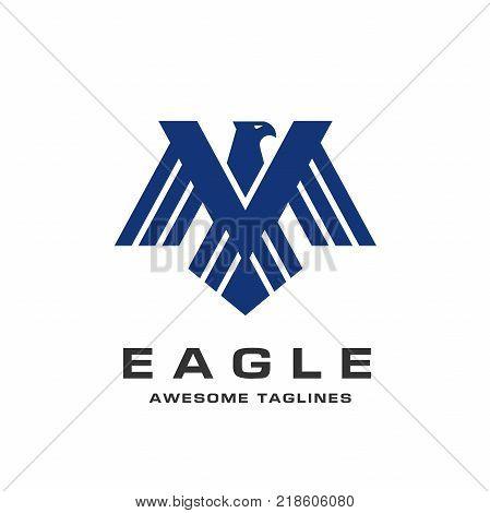 eagle wings logo vector photo free trial bigstock