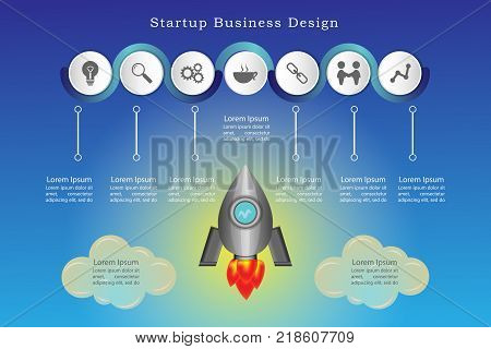Startup business design rocket for powerpoint presentation part 1