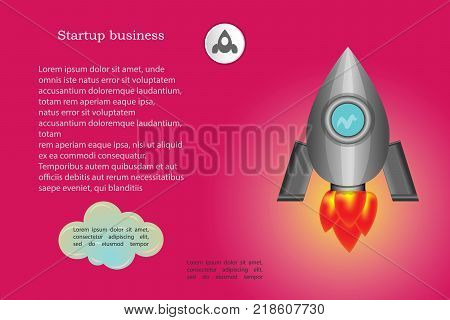 Startup business design rocket for powerpoint presentation part 2