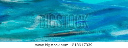 abstract oil blue paint texture on canvas blue paint background