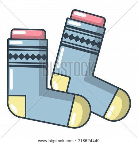 Socks icon. Cartoon illustration of socks vector icon for web