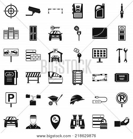 Privacy icons set. Simple style of 36 privacy vector icons for web isolated on white background