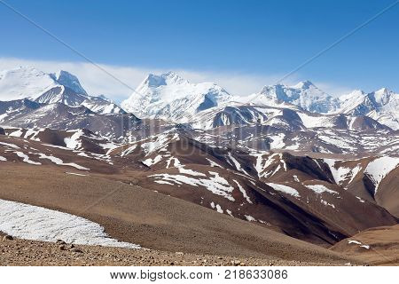 Himalayan Mountain Landscape In Western Tibet, China