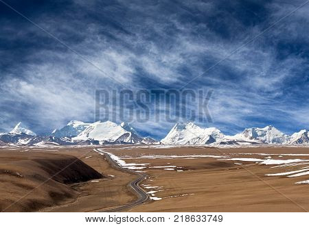 Himalaya Mountain Landscape In Tibet Autonomous Region Of China