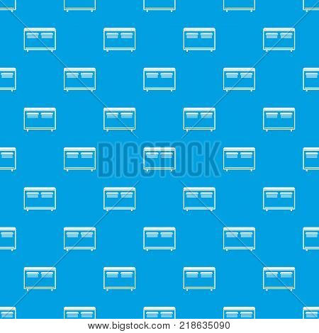 Home equipment for heating pattern repeat seamless in blue color for any design. Vector geometric illustration