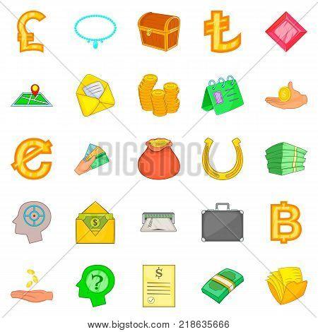 Bond icons set. Cartoon set of 25 bond vector icons for web isolated on white background