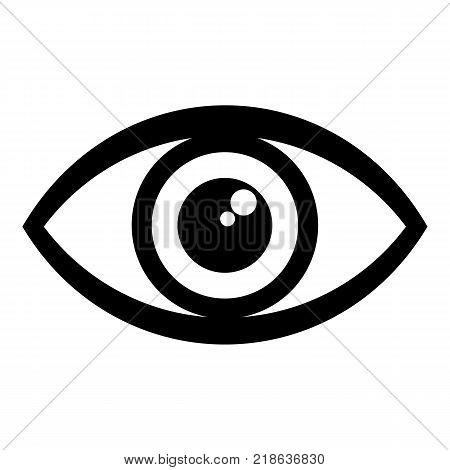 Human eye icon. Simple illustration of human eye vector icon for web