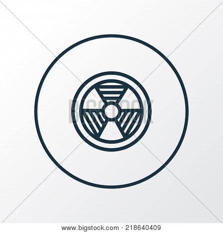 Bio hazard icon line symbol. Premium quality isolated radiation  element in trendy style.
