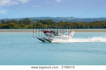 Sea Plane Prepares For Take Off
