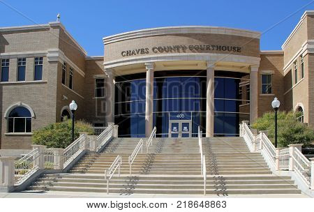 ROSWELL, NEW MEXICO - OCTOBER 06: The Chaves County Courthouse 2013