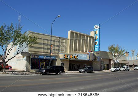 ROSWELL, NEW MEXICO - OCTOBER 06: International UFO Museum in Roswell 2013
