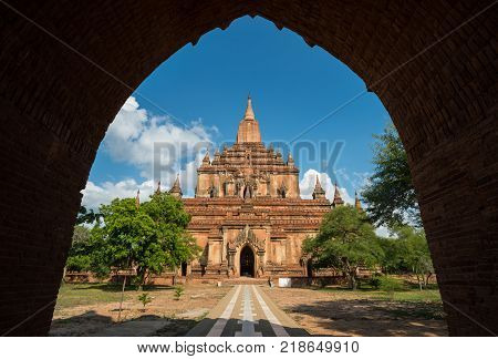 The Sulamani Temple is a Buddhist temple located in the village of Minnanthu (southwest of Bagan) in Burma. The temple is one of the most-frequently visited in Bagan.