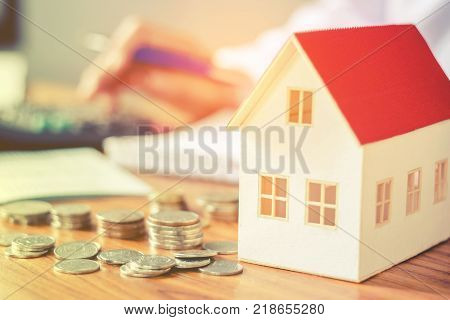 Save money for home cost business concept
